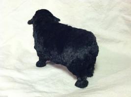 North American Black Sheep Animal Figurine - recycled rabbit fur image 4