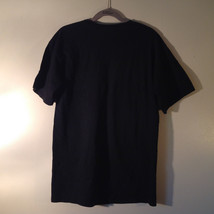 OBEY Black T Shirt White Dostain Picture on Front Red Star Fist Size Medium image 7
