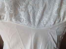 Pretty White Slip with Bottom and Top Design 100 Percent Nylon Size 38 image 3