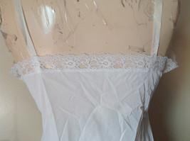 Pretty White Slip with Bottom and Top Design 100 Percent Nylon Size 38 image 7