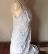 Pretty White Slip with Bottom and Top Design 100 Percent Nylon Size 38 image 5