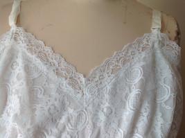 Pretty White Slip with Bottom and Top Design 100 Percent Nylon Size 38 image 2