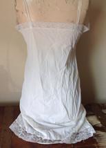 Pretty White Slip with Bottom and Top Design 100 Percent Nylon Size 38 image 6