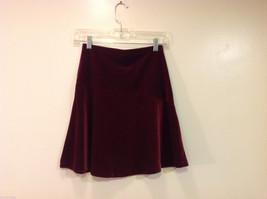 Old Navy Girls Maroon Velvet A-line Skirt, Size 14 image 2