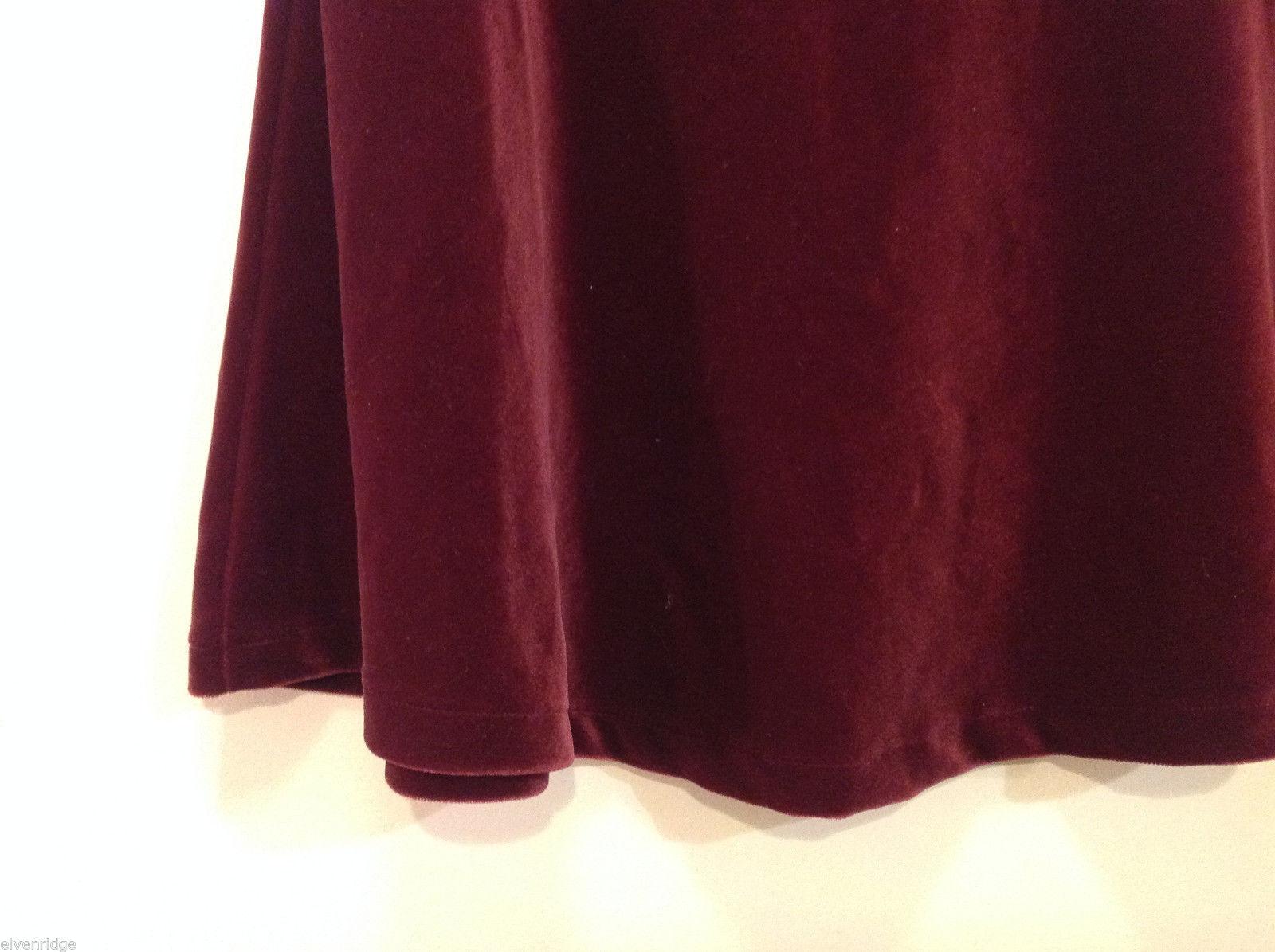 navy maroon velvet a line skirt size 14 skirts