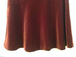 Old Navy Girls Maroon Velvet A-line Skirt, Size 14 image 4
