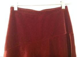 Old Navy Girls Maroon Velvet A-line Skirt, Size 14 image 3