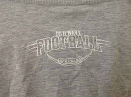 Old Navy Gray Long Sleeve Football Player Graphic Shirt Size Large 10 to 12 image 6