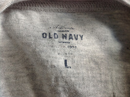 Old Navy Gray Long Sleeve Football Player Graphic Shirt Size Large 10 to 12 image 8