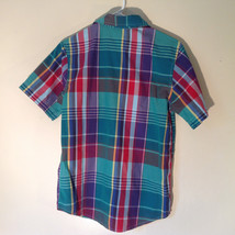 Old Navy Button Down Plaid Short Sleeve Shirt Collar Pocket Size XL image 5