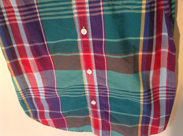 Old Navy Button Down Plaid Short Sleeve Shirt Collar Pocket Size XL image 4