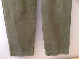Olive Green Corduroy Ralph Lauren 4 Pocket Pants Button Zipper Closure Size 32 image 3