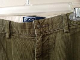 Olive Green Corduroy Ralph Lauren 4 Pocket Pants Button Zipper Closure Size 32 image 5