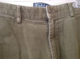 Olive Green Corduroy Ralph Lauren 4 Pocket Pants Button Zipper Closure Size 32 image 4