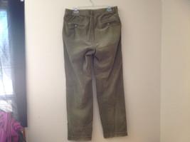 Olive Green Corduroy Ralph Lauren 4 Pocket Pants Button Zipper Closure Size 32 image 7