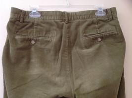 Olive Green Corduroy Ralph Lauren 4 Pocket Pants Button Zipper Closure Size 32 image 6