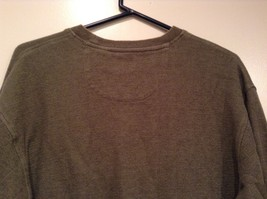 Olive Green Long Sleeve 100 Percent Cotton Sweater by Arrow Size XL image 4