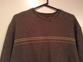 Olive Green Long Sleeve 100 Percent Cotton Sweater by Arrow Size XL image 2