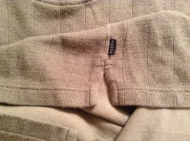 Olive Green Long Sleeve 100 Percent Cotton Sweater by Arrow Size XL image 6