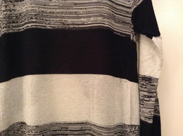 Ombre Black & White Long Sleeve Cardigan Sweater Wrap New w glitter sparkle image 7