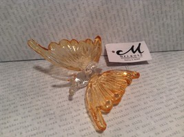 Orange Butterfly Ornament 3 Inches Long 100 percent glass image 5