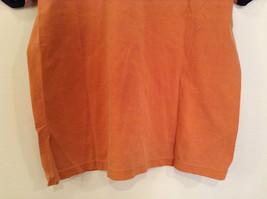 Orange Brown with Black Trim Short Sleeve T Shirt Turkey Embroidered Size Medium image 7