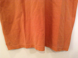 Orange Brown with Black Trim Short Sleeve T Shirt Turkey Embroidered Size Medium image 5