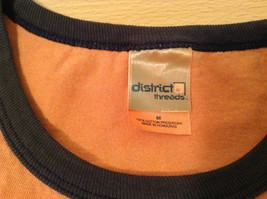 Orange Brown with Black Trim Short Sleeve T Shirt Turkey Embroidered Size Medium image 8