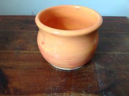 Orange Hand Crafted Artisan Ceramic Vase Jar Bowl Crock 2007 image 5