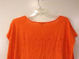 Orange Sleeveless Chaus Sport Top Cutout Fabric Boat Neck Size  XXL image 6