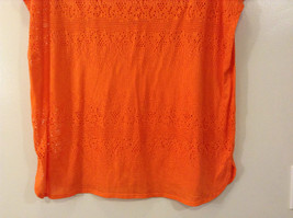 Orange Sleeveless Chaus Sport Top Cutout Fabric Boat Neck Size  XXL image 7