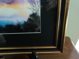 Original Water Color Painting Hudson Valley Bird Sunset by Vivian Gaines Tanner image 8