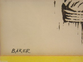 Original Wood Block Print of a Baker Artist Constantine Kermes 1965 image 4