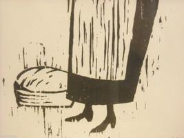 Original Wood Block Print of a Baker Artist Constantine Kermes 1965 image 3
