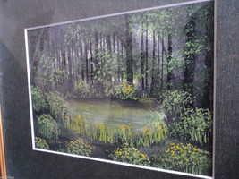 Original Water Color Painting of Hudson Valley woods by Vivian Gaines Tanner image 3