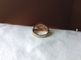 Oval CZ Stone Gold Plated Ring Size 6 image 3