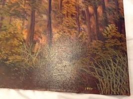 Painting Original Autumn Forest Vivian Gaines Tanner Hudson Valley Artist image 8