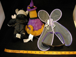 Pair Of Dressed Up Stuffed Animals And Dress Up Costume Accessories image 2