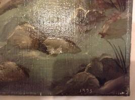 Painting Original Foggy Waterfall Vivian Gaines Tanner Hudson Valley Artist image 3