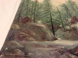 Painting Original Foggy Waterfall Vivian Gaines Tanner Hudson Valley Artist image 6
