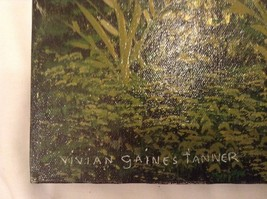 Painting Original Green Forest Vivian Gaines Tanner Hudson Valley Artist image 2