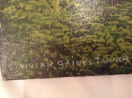 Painting Original Green Forest Vivian Gaines Tanner Hudson Valley Artist image 3