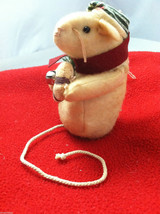 Pair of Weighted Tan Christmas Mice - Can Stand Upright image 2