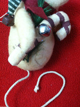 Pair of Weighted Tan Christmas Mice - Can Stand Upright image 5