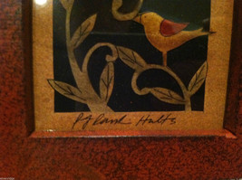 Paper Cutting Vines and Bird Facing Left Small Trinket Box image 4