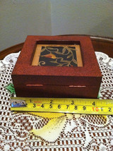 Paper Cutting Vines and Bird Facing Left Small Trinket Box image 6