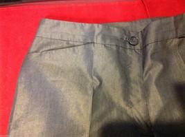 Patrizia Pepe Firenze 44 Silver Capris 3/4 length pants Italian image 2