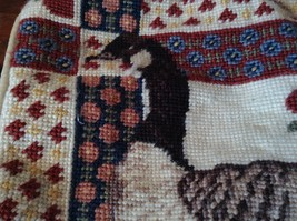 Patchwork Look Pillowcase Needlework with Goose 11 inches by 11 inches image 3