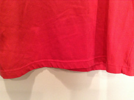 Paul Harris Design Red Short Sleeve T Shirt with Flowers on Front Size Small image 3