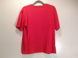 Paul Harris Design Red Short Sleeve T Shirt with Flowers on Front Size Small image 4